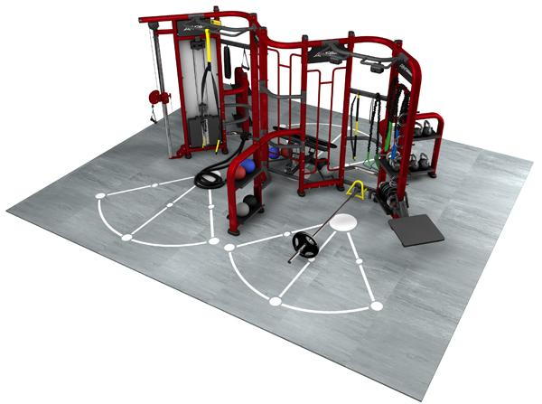 Multi Station Synergy Gym Equipment , Cable Crossover Synergy Workout Machine