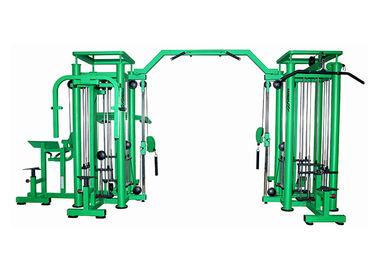Green Color Commercial Multi Function Gym Equipment 8 Station Fitness Products