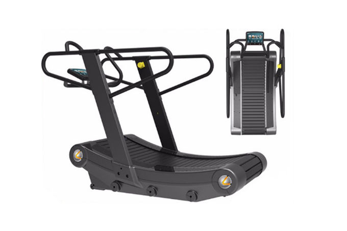 Aerobic Cardio Curved Commercial Gym Grade Treadmill Self - Powered Type